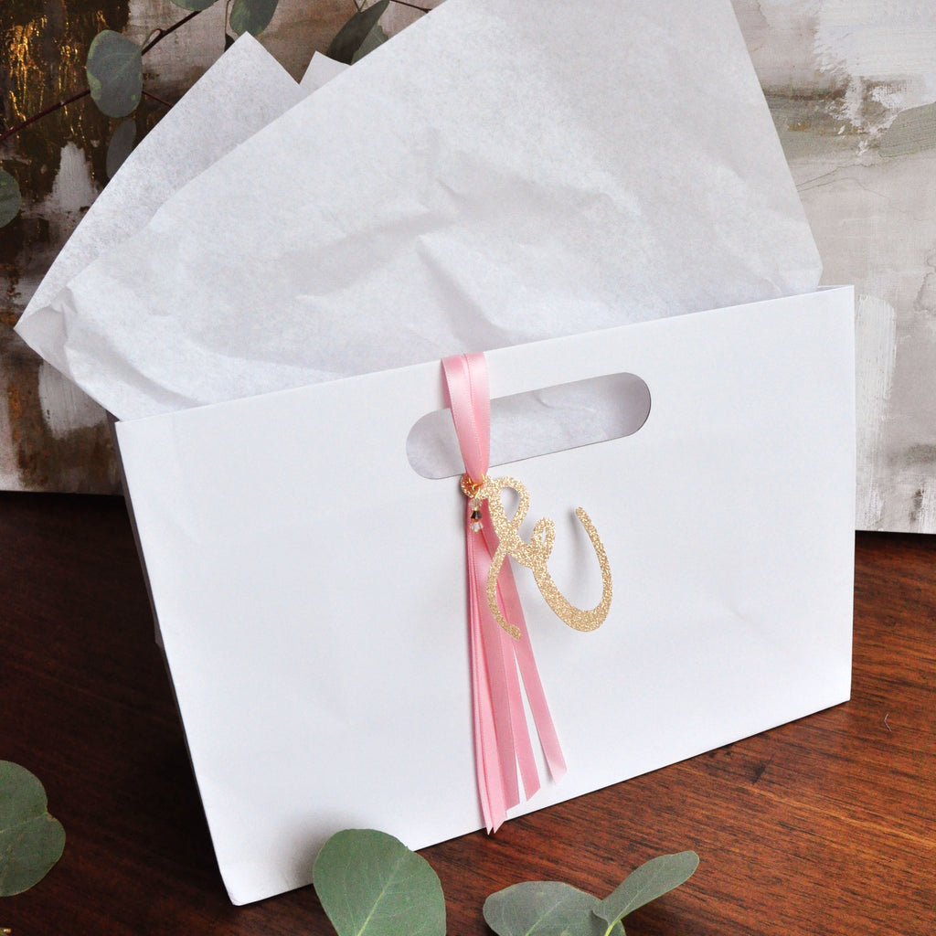 Bridesmaid Gift Bag Bridal Party Gifts Initial Gift Bag With
