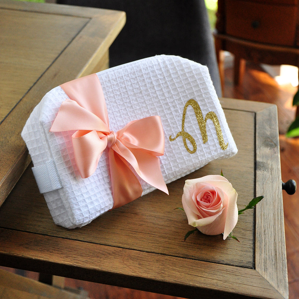 Bridesmaid Gift Cosmetic Bag. Personalized in 5 Business Days. Makeup Bag Personalized. W7CB.