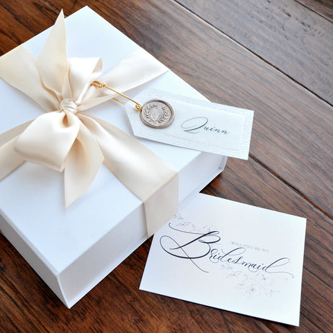 Bridesmaid Gift Keepsake Box. (Qty. 1- Unfilled Box) Bridesmaid Proposal Gift. Will You Be My Maid Of Honor. W8MC.