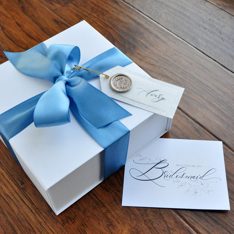 Proposal Box for Bridal Party. (Qty. 1- Unfilled Box) Personalized Bridal Party Gifts. Bridesmaid Gift Box Set. W8MC.