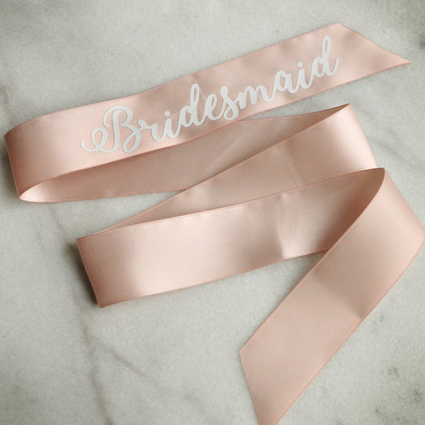 Bridesmaid Ribbon. Personalized in 1-3 Business Days.  Wedding Party Gift Ideas. Bridesmaid Gift Wrap.