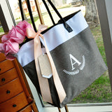 Bridesmaid Tote Personalized (QTY. 1). Bridesmaid Zipper Bag. Monogram Tote Bag. GRTBlH.