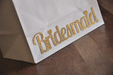 Bridesmaid Gift Bags. Ships in 1-3 Business Days. Large White Paper Bags with Handle. Bridesmaid Gift Ideas.