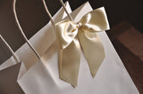 Bridesmaid Gift Bags. Large White Paper Bags with Handle. Bridesmaid Gift Ideas. W8KFT.