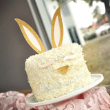 Bunny Ear Cake Topper. Bunny Ears, Eyelashes, and Nose Set. Easter Bunny Cake Topper.