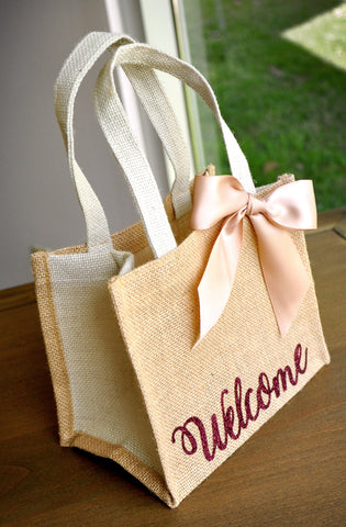 Welcome Gift Bags Wedding Guest Gift Bag Hotel Welcome Bag Burlap