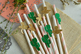 Cactus Baby Shower Decor. (1 set of 10 straws) Cactus Party Straws. Fiesta Party Decoration.