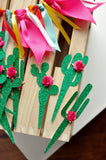 Cactus Party Decor. Cactus Cupcake Toppers. (1 Set of 12 Toppers) Made in 1-3 Business Days. Fiesta Birthday Decorations.