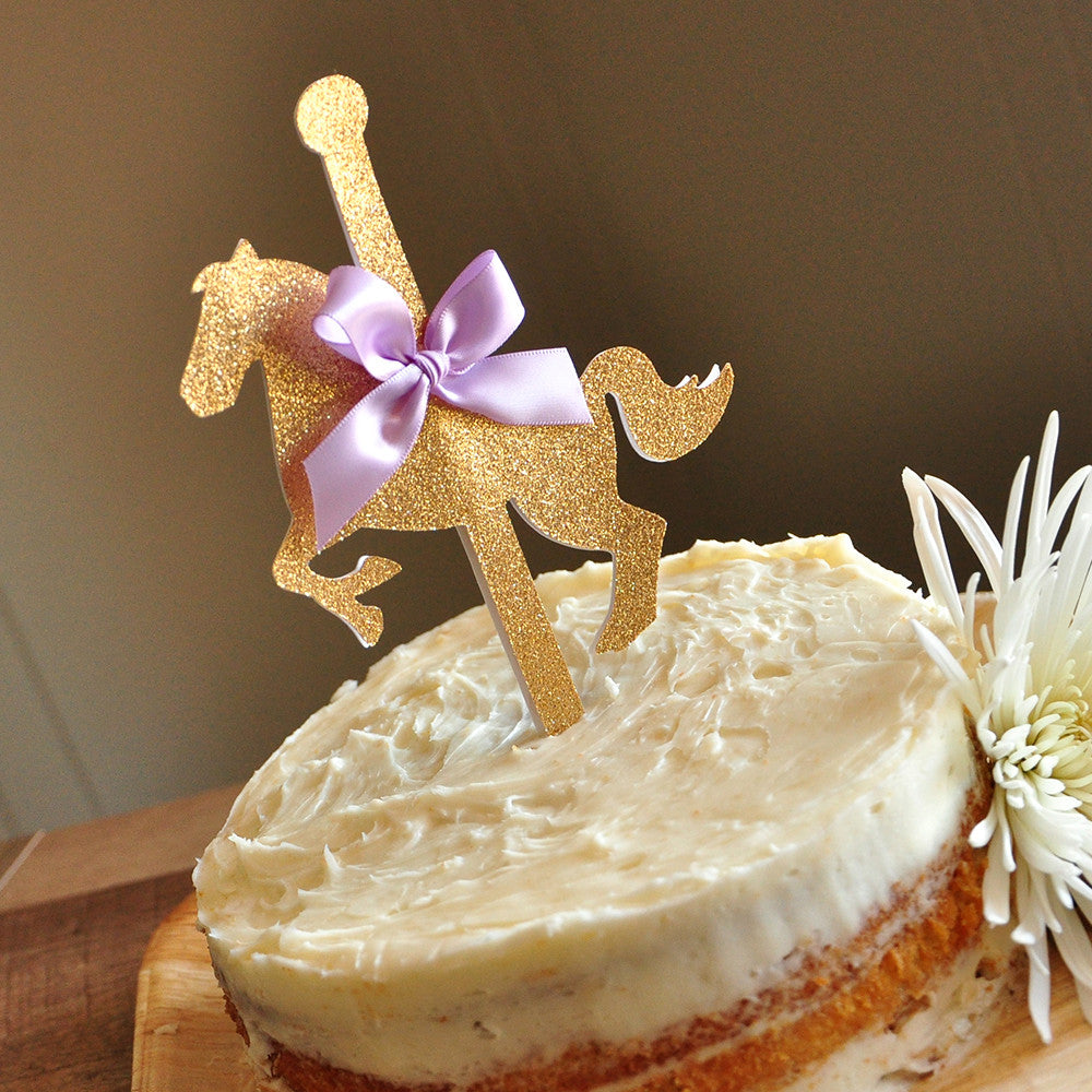 Carousel Cake Topper. Ships in 1-3 Business Days. Carousel Horse Party Decor. Merry-Go-Round Party.