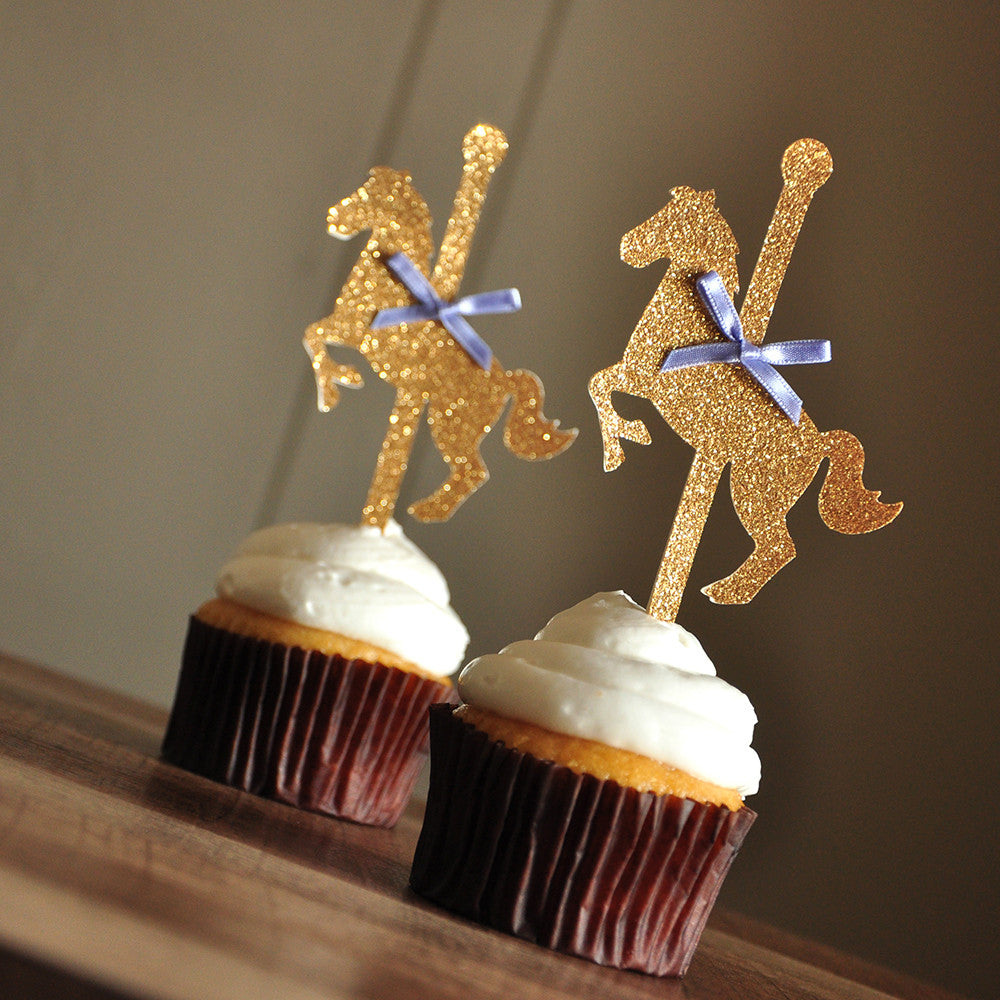 Carousel Horse Cupcake Toppers. Ships in 1-3 Business Days. Merry-Go-Round Horse Cupcake Toppers 12CT.