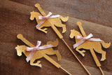 Carousel Horse Party Decoration.  Ships in 1-3 Business Days. Merry-Go-Round Horse Centerpiece. 3CT.