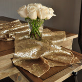 Champagne Gold Table Runner. Ships in 1-3 Business Days. Sequin Table Runner. Wedding Table Runner.