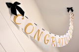 Graduation Banner.  Congratulations Graduation Banner.   Handcrafted in 1-3 Business Days.  Class of 2017 Graduation Decor.