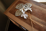 Bridal Shower Centerpiece. Ships in 1-3 Business Days. Silver Diamond Wands 3CT.