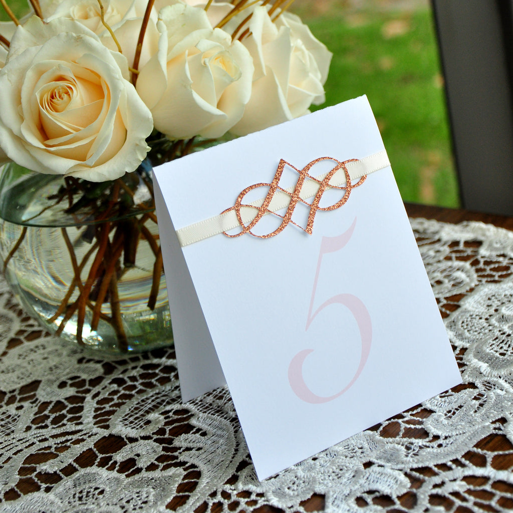 Elegant Table Numbers. Handcrafted in 1-3 Business Days. Blush Wedding Decorations. Rose Gold Wedding Decor. Fancy Table Numbers 1-10.