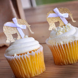 Jungle Baby Shower Decorations. Ships in 1-3 Business Days. Elephant Cupcake Toppers 12CT.