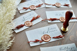 Fall Wedding Placecards. (1 Set of 8)  Placecards for Wedding with Wax Seal. Vellum Place Cards.
