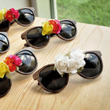 Floral Sunglasses for Bride. (Qty. 1) Fiesta Bachelorette Sunglasses. Tropical Bachelorette Party.