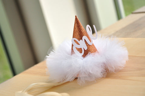 Rose Gold Birthday Hat First Handcrafted In 1 3 Business Days