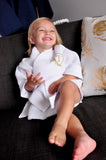 Flower Girl Robe for Toddler (Qty. 1). Persoanlized in 1-3 Business Days.  Waffle Weave Robe for Kids. Flower Girl Proposal.