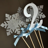 Frozen Centerpiece (4 Piece).   Ships in 1-3 Business Days.  Winter Wonderland Party Decorations.