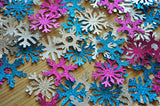 Frozen Birthday Party Decoration Confetti.  Ships in 1-3 Business Days.  Snowflake Confetti.  4 Packs 25 CT Each.