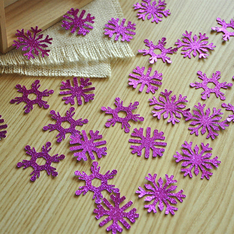 Frozen Birthday Party Decoration Confetti 25CT. Ships in 1-3 Business Days. Fuchsia Glitter Snowflake Confetti.