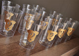 Gender Reveal Party Cups. Ships in 1-3 Business Days. Set of 10 Gold Onesie Question Mark Cups.