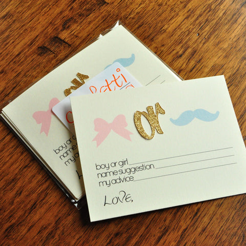 Gender Reveal Party Prediction Cards 10CT. Ships in 1-3 Business Days. Gender Reveal Party Ideas. Mustache Or Bow.