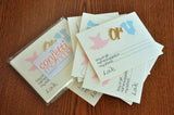 Gender Reveal Party Prediction Cards 10CT. Gender Reveal Party Ideas. Ties or Tutus.