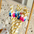 Gender Reveal Pom Pom Straws. (1 Set of 10 Straws) Fiesta Gender Reveal Idea. Pink and Blue Gender Reveal Party Decorations.