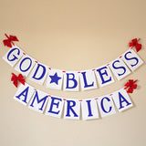God Bless America 4th of July Banner.  Ships in 1-3 Business Days.