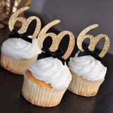 "60th Birthday Party Ideas. Ships in 1-3 Business Days. Glitter Gold Number ""60"" Cupcake Toppers 12CT."