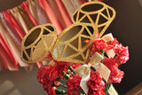 Bridal Brunch Centerpiece. Ships in 1-3 Business Days. Bridal Shower Decorations. Gold Diamond Wands 3CT.