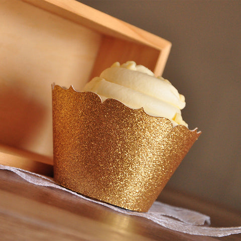 Gold Cupcake Wrappers for 40th Birthday Party. Ships in 1-3 Business Days. Gold Cupcake Holder. Wedding Cupcake Wrappers 12CT.