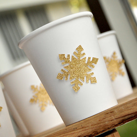 Gold Winter Onederland Party Supplies 10CT. Ships in 1-3 Business Days. Paper Party Cups. Snowflake Paper Cups. Paper Cups for Hot Beverages