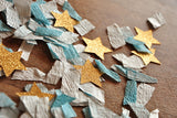 Twinkle Twinkle Little Star Party Decorations. Ships in 1-3 Business Days. 1st Birthday Table Confetti. Blue and Gold Star Toss Confetti.