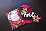 "Winter Onederland Party Decorations. Made in 1-3 Business Days. Burgundy, White Woodgrain and Gold Party Decorations. ""One"" Snowflake Mix."