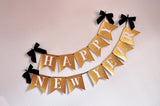 Happy New Years Banner. Handcrafted in 1-3 Business Days. New Years Eve Decorations. New Years Eve Banner.