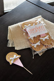 Ice Cream First Birthday. Handcrafted in 1-3 Business Days. Ice Cream Cone Cupcake Toppers 12CT.