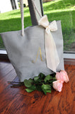 Initial Beach Bag for Bridesmaids (Qty. 1). Beach Tote Bag. Bridesmaid Beach Gift. Bridesmaid Gift Bag. G22BT.