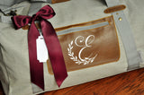 Overnight Bag. (Qty. 1) Personalize Gift for Woman with Initial. Monogram Bridesmaid Gift. G20OB.