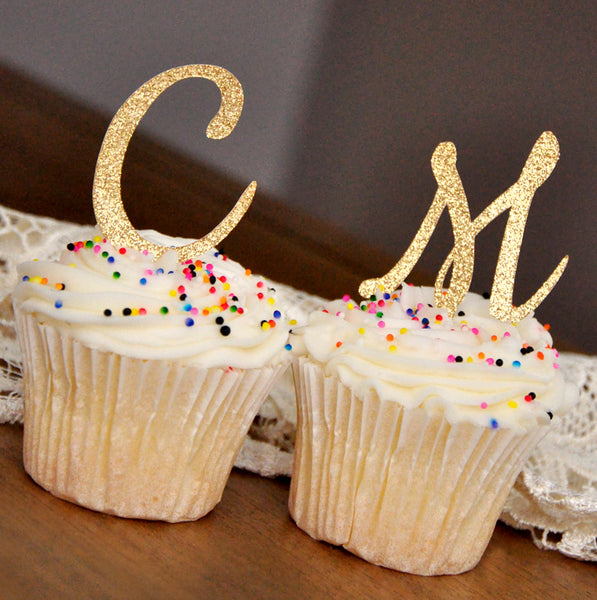 Initial Letter Cupcake Toppers Set Of 12 Ships In 1 3