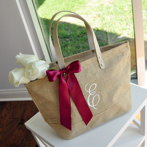 Initial Tote Bag for Bridesmaid Gift. Quantity: 1. Bridesmaid Tote. Personalize Tote Bag. Monogram Tote Bag with Zipper. ZB17.