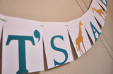 Jungle Baby Shower Decorations. Ships in 1-3 Business Days. It's A Boy Banner.