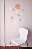 Winter Onederland Decoration Photo Backdrop. Made in 1-3  Business Days. Jumbo Snowflake Wall Confetti in Glitter Rose Gold and White. 12 CT.