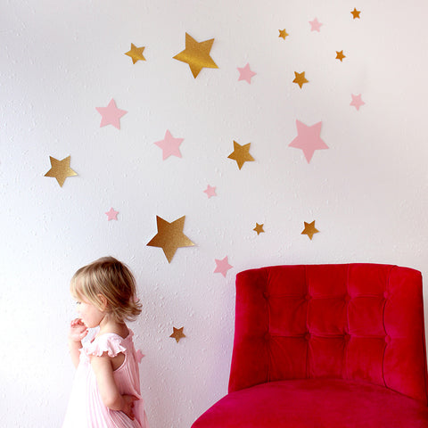 Twinkle Twinkle Little Star Wall Art or Photo Backdrop.  Ships in 1-3 Business Days.   Jumbo Star Wall Confetti 24CT.