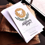 Jungle Baby Shower Invitations and Envelopes.  We Print, Cut, Glue and Ship to You in 1-3 Business Days.