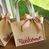 Welcome Gift Bags. Wedding Guest Gift Bag. Hotel Welcome Bag. Burlap Gift Bag. MJ586.