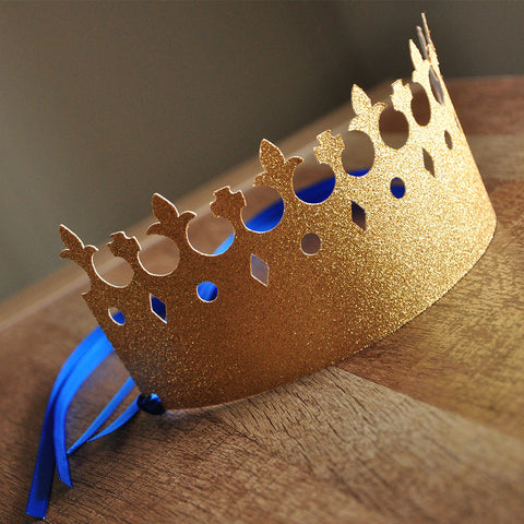 Little Prince Party Decorations. Ships in 1-3 Business Days. King Crowns as Party Favors.